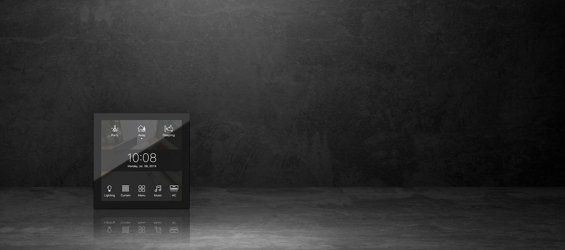 خانه هوشمند نورال | نماینده خانه هوشمند HDL در ساری | تاچ اسکرین هوشمند اچ دی ال HDL Granite Display